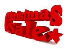 Μεγάλη κόκκινη πώληση Χριστουγέννων, τρισδιάστατη απόδοση Στοκ εικόνα με δικαίωμα ελεύθερης χρήσης