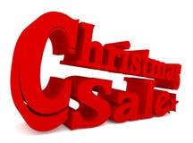 Μεγάλη κόκκινη πώληση Χριστουγέννων, τρισδιάστατη απόδοση Στοκ Φωτογραφίες