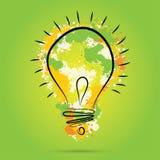 Μεγάλη νέα έννοια ιδέας - ο βολβός με το χέρι σύρει τα διανυσματικά στοιχεία watercolor διανυσματική απεικόνιση