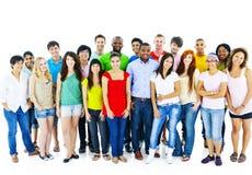 Μεγάλη ομάδα κοινοτικής έννοιας ανθρώπων σπουδαστών Στοκ Εικόνες