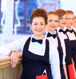 Μεγάλη ομάδα σερβιτόρων Στοκ Εικόνες