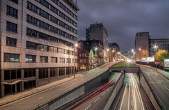 Μεγάλη οδός Queensway, Μπέρμιγχαμ του Charles Στοκ εικόνες με δικαίωμα ελεύθερης χρήσης