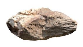 Μεγάλη πέτρα στο άσπρο υπόβαθρο Στοκ Εικόνα