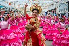 Μεγάλη παρέλαση 2017 Sinulog στοκ εικόνες