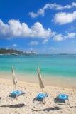 Μεγάλη παραλία κόλπων - Philipsburg Sint Maarten - καραϊβικό τροπικό νησί Στοκ εικόνα με δικαίωμα ελεύθερης χρήσης