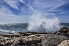 Μεγάλη παραλία στην Πορτογαλία Στοκ Εικόνα