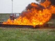Μεγάλη πυρκαγιά δίσκων στοκ εικόνες
