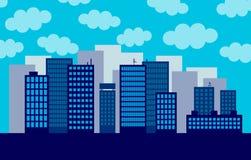 Μεγάλη πόλη ελεύθερη απεικόνιση δικαιώματος