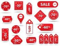 Μεγάλη πώληση, αυτοκόλλητη ετικέττα και εμβλήματα, προώθηση Στοκ Φωτογραφία