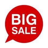 Μεγάλη πώληση, λεκτική φυσαλίδα Στοκ φωτογραφία με δικαίωμα ελεύθερης χρήσης