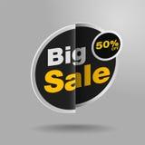 Μεγάλη πώληση μέχρι 50% μακριά επίσης corel σύρετε το διάνυσμα απεικόνισης Στοκ εικόνα με δικαίωμα ελεύθερης χρήσης