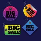μεγάλη πώληση Πώληση ζωηρόχρωμος percent έκπτωση Έξοχο έμβλημα πώλησης Στοκ εικόνες με δικαίωμα ελεύθερης χρήσης