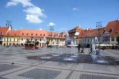 Μεγάλη πλατεία του Sibiu Στοκ Εικόνα