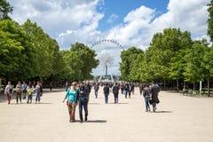 Μεγάλη ρόδα Ferris στο Παρίσι στοκ εικόνες