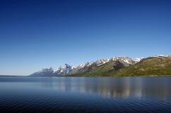 Μεγάλη σειρά βουνών Tetons Στοκ Εικόνες