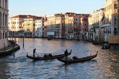 Κανάλι της Βενετίας grande Στοκ φωτογραφίες με δικαίωμα ελεύθερης χρήσης
