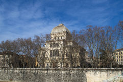 Μεγάλη συναγωγή της Ρώμης, Ιταλία Στοκ φωτογραφία με δικαίωμα ελεύθερης χρήσης
