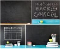 Μεγάλη συλλογή ` πίσω στη σχολική ` έννοια για το κείμενό σας, σχέδιο Στοκ Φωτογραφία