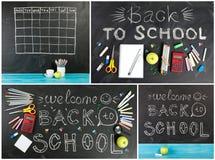 Μεγάλη συλλογή ` πίσω στη σχολική ` έννοια για το κείμενό σας, σχέδιο Στοκ φωτογραφίες με δικαίωμα ελεύθερης χρήσης