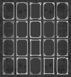 Μεγάλη συλλογή των καλλιγραφικών πλαισίων στο εκλεκτής ποιότητας και αναδρομικό ύφος σε ένα υπόβαθρο πινάκων κιμωλίας Στοκ φωτογραφία με δικαίωμα ελεύθερης χρήσης