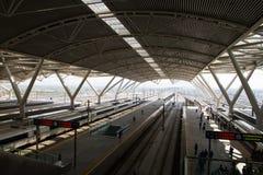 Μεγάλη ταχύτητα σιδηροδρόμων της Κίνας Στοκ Εικόνα