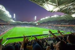 2015 μεγάλη τελική νίκη της Μελβούρνης α-ένωσης εναντίον του Σίδνεϊ FC στοκ φωτογραφίες