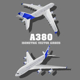 A380, μεγάλη τρισδιάστατη isometric απεικόνιση αεροπλάνων επιβατών Οριζόντια υψηλός - ποιοτική μεταφορά Οχήματα με σκοπό να φέρου Στοκ φωτογραφία με δικαίωμα ελεύθερης χρήσης