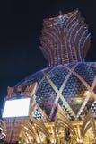 Μεγάλη χαρτοπαικτική λέσχη Λισσαβώνα στο Μακάο, Κίνα Στοκ Εικόνα