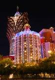 Μεγάλη χαρτοπαικτική λέσχη της Λισσαβώνας στο Μακάο, Κίνα Στοκ Φωτογραφίες