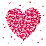 Μεγάλη όμορφη καρδιά που αποτελείται από τις μικρές καρδιές Στοκ εικόνα με δικαίωμα ελεύθερης χρήσης
