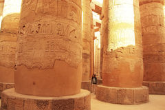 Μεγάλη Hypostyle αίθουσα, ναός Karnak σύνθετος, Luxor Στοκ Εικόνες