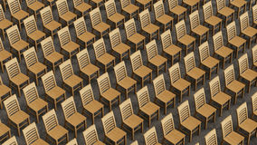 Μεγάλη Isometric σειρά ξύλινων εδρών που αντιμετωπίζουν προς τα εμπρός Στοκ φωτογραφία με δικαίωμα ελεύθερης χρήσης