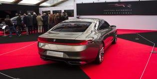 Μεγάλη Lusso Coupe 2013 πίσω άποψη της BMW Στοκ εικόνα με δικαίωμα ελεύθερης χρήσης