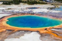 Μεγάλη Prismatic άνοιξη στο εθνικό πάρκο Yellowstone, ΗΠΑ Στοκ φωτογραφία με δικαίωμα ελεύθερης χρήσης