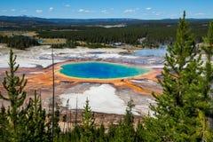 Μεγάλη Prismatic άνοιξη στο εθνικό πάρκο Yellowstone, ΗΠΑ Στοκ Εικόνα