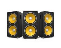 Μεγάλοι ακουστικοί ομιλητές απεικόνιση αποθεμάτων