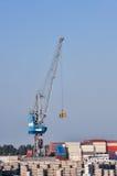 Μεγάλοι γερανοί λιμένων φορτίου θάλασσας Στοκ εικόνα με δικαίωμα ελεύθερης χρήσης