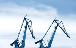 Μεγάλοι γερανοί ναυπηγείων Στοκ Φωτογραφίες