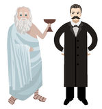 Μεγάλοι ελληνικοί και γερμανικοί φιλόσοφοι Στοκ Εικόνες