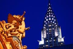 Μεγάλοι κεντρικοί σταθμός και κτήριο Chrysler, Νέα Υόρκη Στοκ Εικόνα
