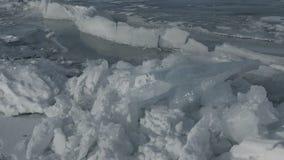 Μεγάλοι φραγμοί της ρωγμής πάγου απόθεμα βίντεο