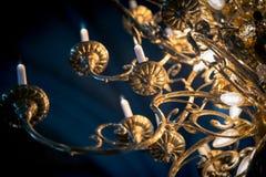 Μεγάλος λαμπτήρας με τα κεριά στην εκκλησία Σουηδία, Ευρώπη Στοκ εικόνες με δικαίωμα ελεύθερης χρήσης