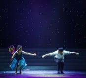 Μεγάλος ανεμόμυλος-σύζυγος-σύγχρονος χορός Στοκ εικόνες με δικαίωμα ελεύθερης χρήσης
