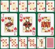 Μεγάλος δείκτης κοστουμιών καρδιών Blackjack Στοκ Εικόνες