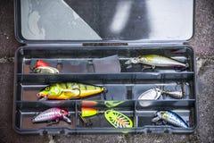 μεγάλος επιτυχής εξοπλισμός κλωστών αλιείας Στοκ εικόνα με δικαίωμα ελεύθερης χρήσης