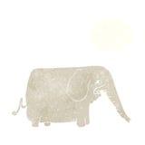 μεγάλος ελέφαντας κινούμενων σχεδίων με τη σκεπτόμενη φυσαλίδα Στοκ φωτογραφίες με δικαίωμα ελεύθερης χρήσης