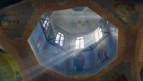 Μεγάλος ζωγραφισμένος στο χέρι θόλος του καθεδρικού ναού απόθεμα βίντεο