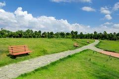 Μεγάλος δημόσιος πράσινος χώρος στοκ εικόνες με δικαίωμα ελεύθερης χρήσης