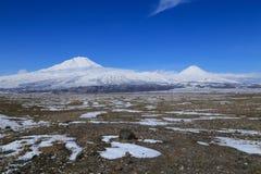 Μεγάλος και λίγο Ararat Στοκ Εικόνα