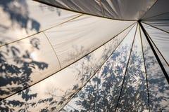 Μεγάλος καμβάς με τη σκιά Στοκ Εικόνα